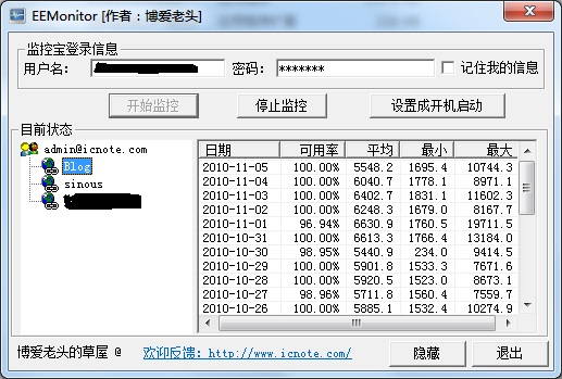 EEMonitor 网站流量监控 v0.5